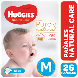Combo 2U Pañal Huggies Natural Care Ellos Mx26