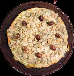 Pizza de Champignones con Ajo