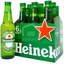 Sixpack Cerveza Porron Heineken De 333mL