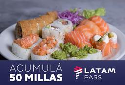 Latam Pass - Tabla Sushi Premium Only Salmón 26 Piezas