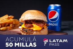 Latam Pass - Hamburguesa + Papas + Bebida