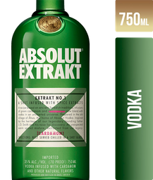 Vodka Absolut Extrakt Suecia Con Cardamomo 750Ml