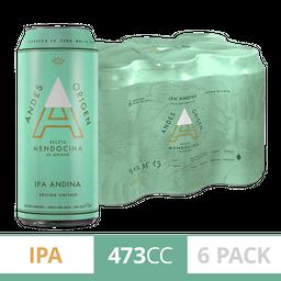 Cerveza Andes Origen Ipa 473Ml X6