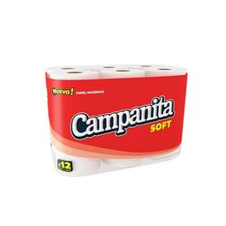 Papel Higiénico Campanita Soft Simple Hoja Paquete 12 Unidades