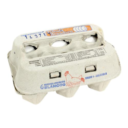 Huevo Blanco Caja 6 Unidades