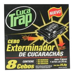 Insecticida Cebos Extermina Cuca Trap Cja 8 Uni