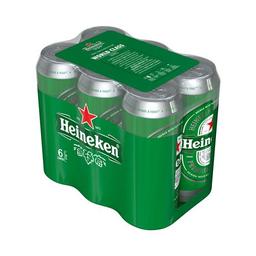 Sixpack Cerveza Lager Heineken Pack Latas 473 Ml