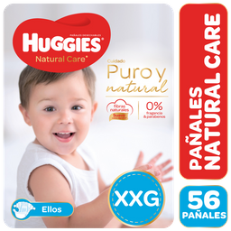 Pañal Natural Care E Huggies Paq 56 Uni