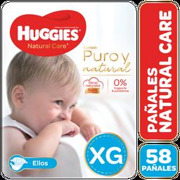 Pañal Natural Care E Huggies Paq 58 Uni