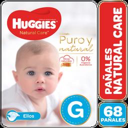 Pañal Natural Care E Huggies Paq 68 Uni
