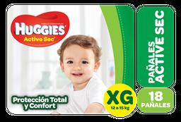 Pañales Hugg Actsec Mega Xg Huggies Paq 18 Uni