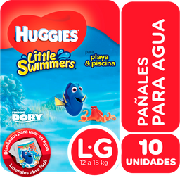 """Pañales Huggies Little Swimmers """"G"""" 10 Unidades"""