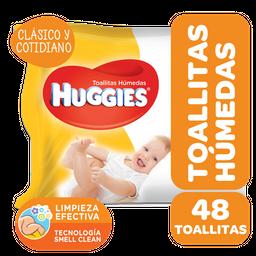 Toalla Humeda Huggies Clasico Y Cotidiano Fwp 48 Uni