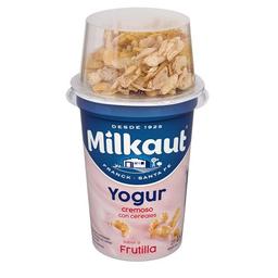 Yogur Cereal.entero Frutilla Milkaut Pot