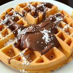 Waffle Vainilla & Nutella