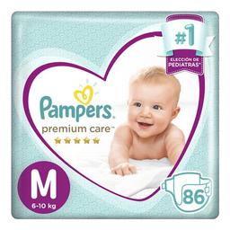 Pampers Premium Care Pañales Desechables M 86 Unidades