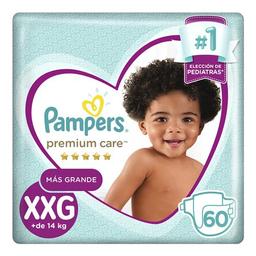 Pampers Premium Care Pañales Desechables XXG 60 Unidades
