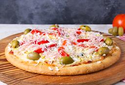 Pizza Huevo, Jamón y Morrón