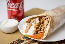 Shawarma de Pollo + Coca Cola