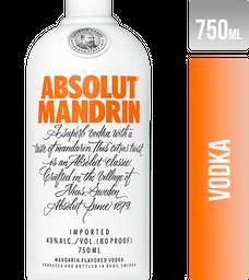 Vodka Absolut Mandrin Suecia 750Ml