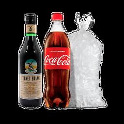 Combo Fernet 450 + 1 Coca + Hielo