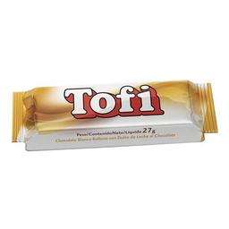 Tofi Chocolate Blanco Rell. C/D.De Leche Tab.X 27G