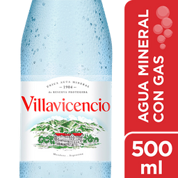 Agua Mineral Villavicencio Con Gas 500 Ml