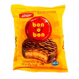 Alfajor Bon O Bon Chocolate Paquete 40 Gr