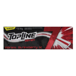 Topline 7 Chicle Sin Azucar Strawberry X 14G