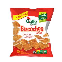2 u Bizcochos De Arroz Dulces Gallo Snacks X 50 Gr