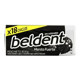 Chicle Beldent Beldent X18 Menta Fuerte 30,6Gr
