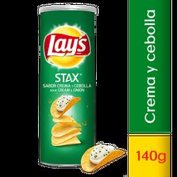 Lays Stax Sour Cream & Onion X 140G