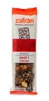 Zafran Barra De Cereal Mani Cacao