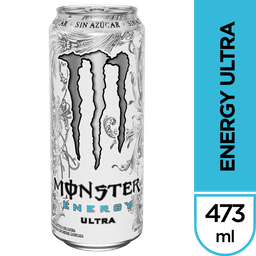 Bebida Monster Ultra 473Cc Sin Azucar
