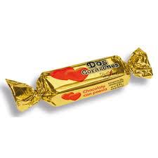 Dos Corazones Bocadito Relleno De Chocolate Con Leche  X 26Gr