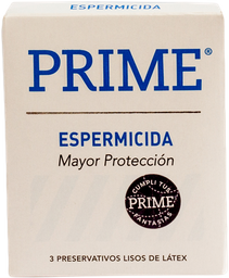 Preservativos Prime Espermicida  X 3U