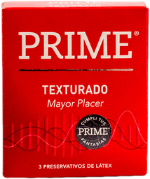 Preservativos Prime Texturado  X 3U