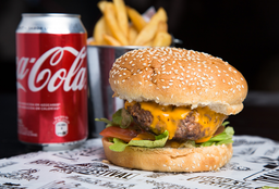 Honky Tonk Burger + Bebida
