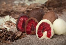 Bombones de Frambuesas con Mix de Chocolate