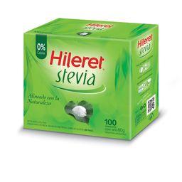 Edulcorante En Sobres Hileret Con Stevia 100 U