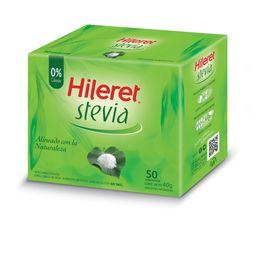 Edulcorante En Sobres Hileret Con Stevia 50 U