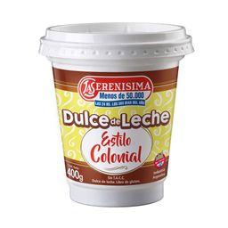 Dulce De Leche La Serenísima Colonial 400 G