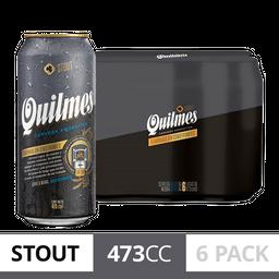 Sixpack Cerveza Quilmes Stout 473Ml