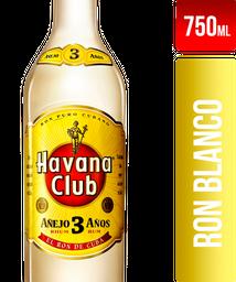 Ron Havana Club Añejo 3 Años Blanco 750Ml
