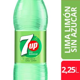 Gaseosa 7Up Sin Azucar 2.25L