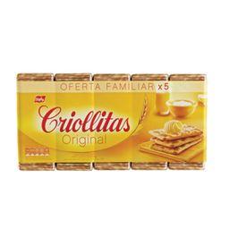 Galletitas Crackers Criollitas 5 X 100 G