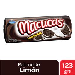 Galletitas Macucas Chocolate Relleno De Vainilla 123 G