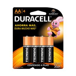 Pilas Alcalinas Duracell Tipo Aa 4 U