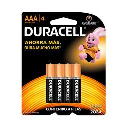 Pilas Alcalinas Duracell Tipo Aaa 4 U