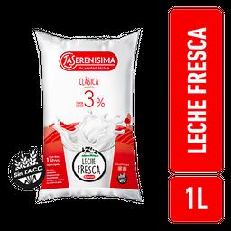 Leche Fresca La Serenisima Entera Clasica 3% Sachet